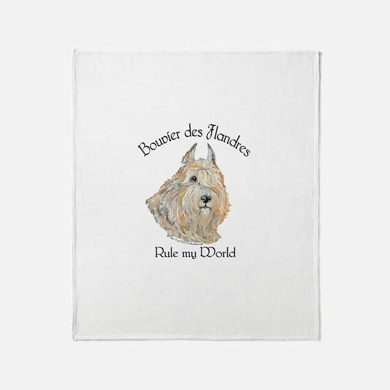 Bouvier des Flandres Wheaten Throw Blanket
