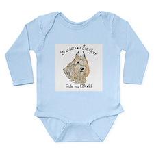 Bouvier des Flandres Wheaten Long Sleeve Infant Bo