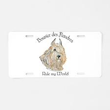 Bouvier des Flandres Wheaten Aluminum License Plat