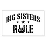 Big Sisters Rule Sticker (Rectangle)