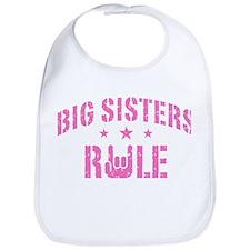 Big Sisters Rule Bib