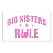 Big Sisters Rule Decal