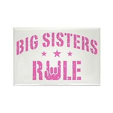 Big Sisters Rule Rectangle Magnet