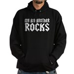 My Big Brother Rocks Hoodie (dark)
