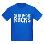 My Big Brother Rocks Kids Dark T-Shirt