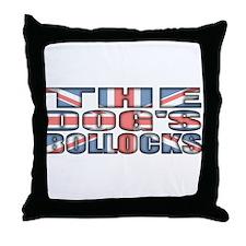 The Dog's Bollocks Throw Pillow