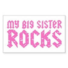 My Big Sister Rocks Decal
