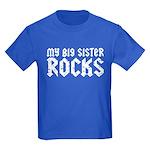 My Big Sister Rocks Kids Dark T-Shirt