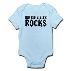 My Big Sister Rocks Infant Bodysuit