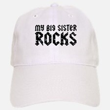 My Big Sister Rocks Baseball Baseball Cap