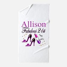 DAZZLING 21ST Beach Towel
