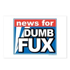 NEWS FOR DUMB FUX Postcards (Package of 8)