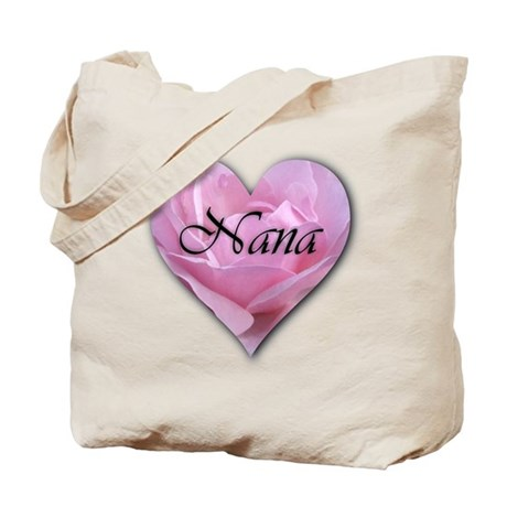 Nana Pink Rose Tote Bag