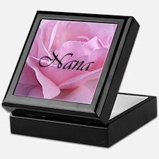 Nana Pink Rose Keepsake Box