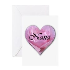 Nana Pink Rose Greeting Card
