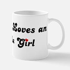 Loves Anguilla Girl Mug