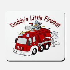 Daddy's Little Fireman Mousepad