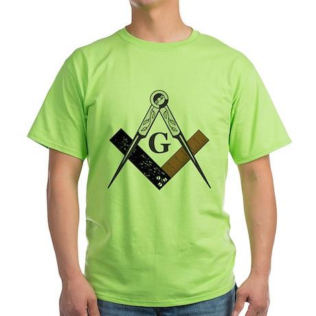 Masonic Square and Compass Green T-Shirt