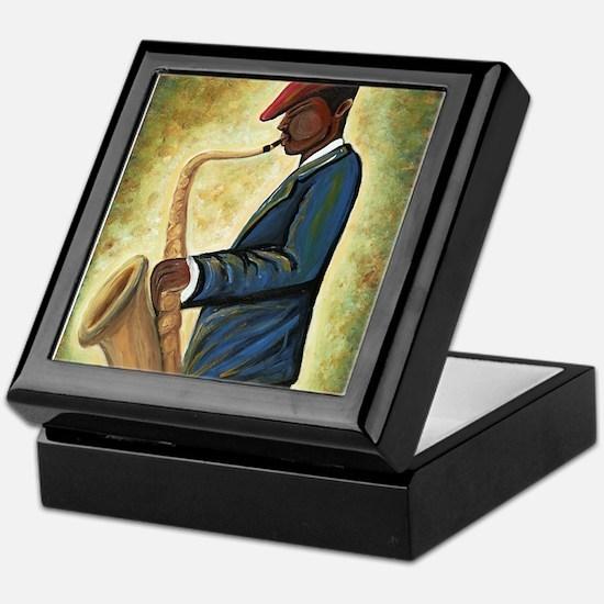 Sax Man Keepsake Box