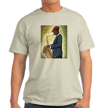 Sax Man Ash Grey T-Shirt