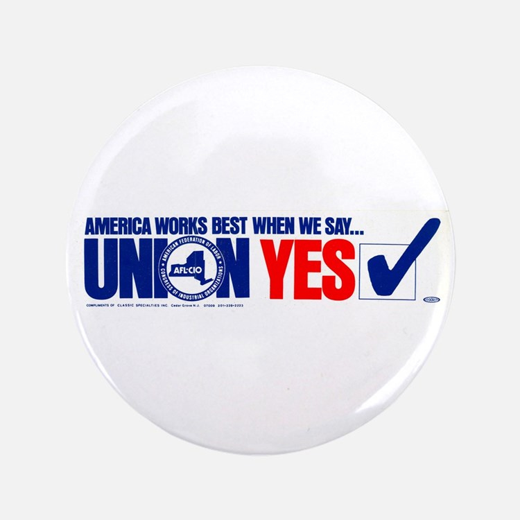 """Union Yes 3.5"""" Button (10 pack)"""