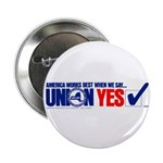 """Union Yes 2.25"""" Button (10 pack)"""