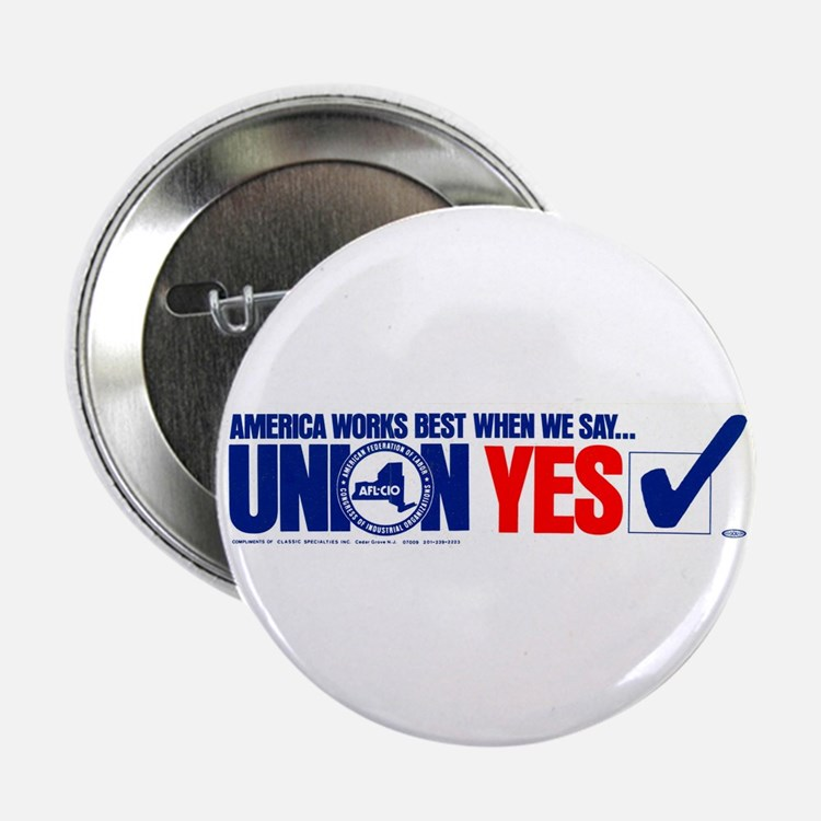 "Union Yes 2.25"" Button (10 pack)"