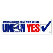 Union Yes Bumper Sticker