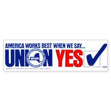 Union Yes Car Sticker