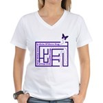 Fibro Fog Maze Women's V-Neck T-Shirt