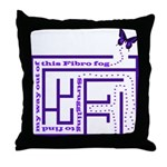 Fibro Fog Maze Throw Pillow