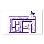 Fibro Fog Maze Sticker (Rectangle)