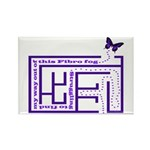 Fibro Fog Maze Rectangle Magnet
