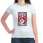 Obey the Corgi - Retro Jr. Ringer T-Shirt