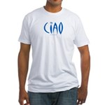 Ciao (Blue) - Fitted T-Shirt