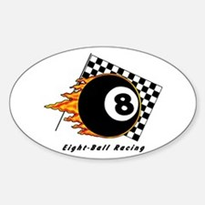 Eight Ball Racing Sticker (Oval)