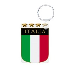 Italian 4 Star flag Aluminum Photo Keychain