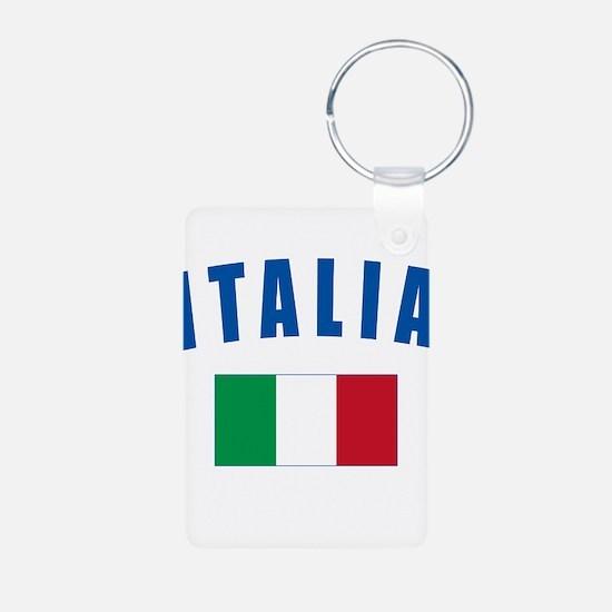 Italian Flag Aluminum Photo Keychain