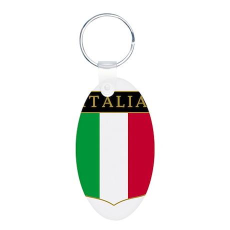 Italia Aluminum Oval Keychain