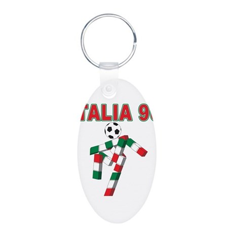 2010 World Cup Italia Aluminum Oval Keychain