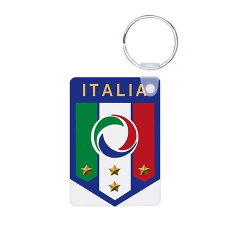 Italian Soccer emblem Aluminum Photo Keychain