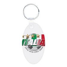 Italian soccer emblem Aluminum Oval Keychain