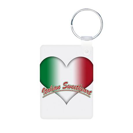 Italian Sweetheart Aluminum Photo Keychain