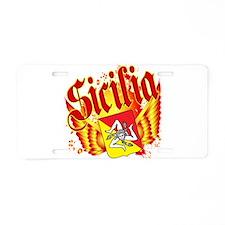 Sicilian Pride Aluminum License Plate