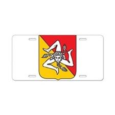 Sicilian stickers and magnets Aluminum License Pla