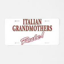Italian grandmother Aluminum License Plate