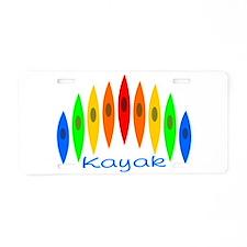 Rainbow of Kayaks Aluminum License Plate