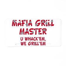 Mafia Grill Master Aluminum License Plate