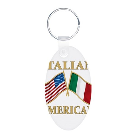 Italian american Pride Aluminum Oval Keychain