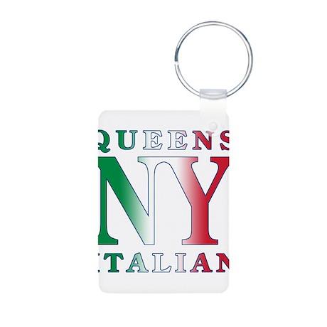 Queens new york Italian Aluminum Photo Keychain